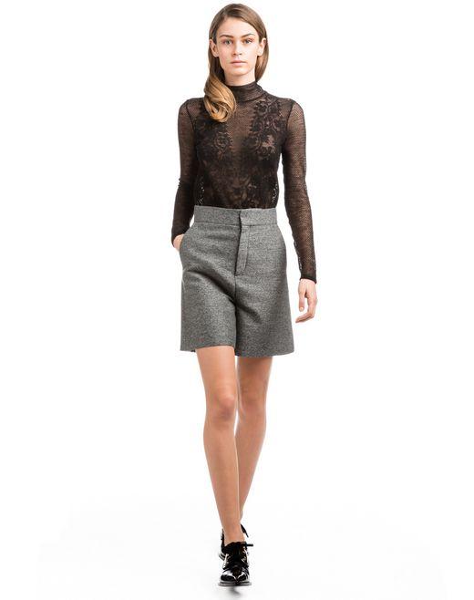 lanvin high-waisted shorts women