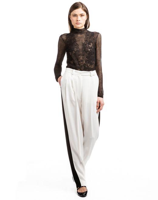 lanvin wide trousers with box pleats women
