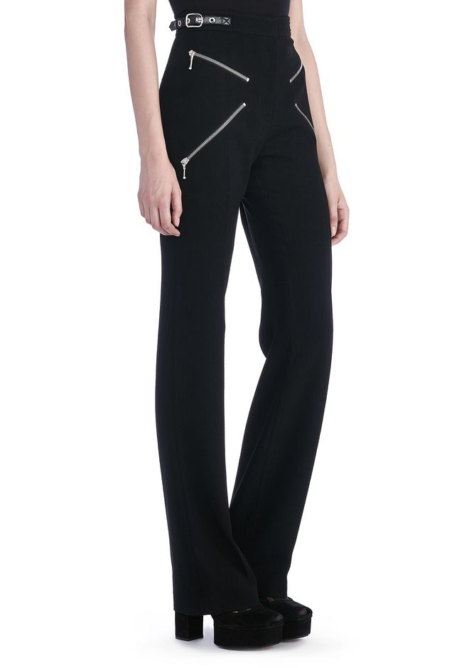 "ALEXANDER WANG PANTS Women BOOT CUT TROUSERS WITH ""X' ZIPPER DETAIL"