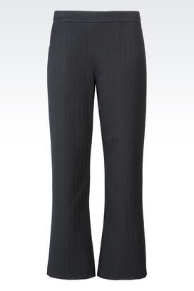 Armani trousers Women trousers in chevron jacquard