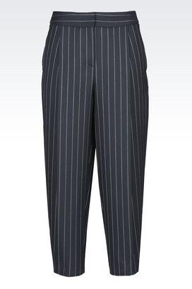 Armani trousers Women pinstripe wool trousers