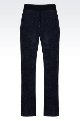 Armani trousers Men regular fit melange effect trousers