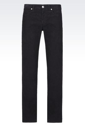 Armani 5 pockets Men regular fit 5-pocket trousers in needlecord