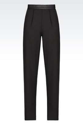 Armani Pants with tucks Women jersey trousers