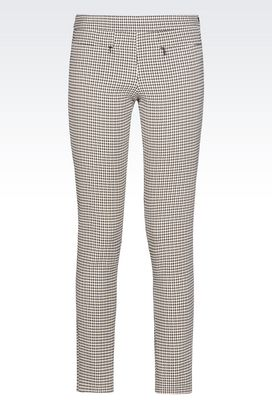 Armani Pants Women trousers in embossed houndstooth