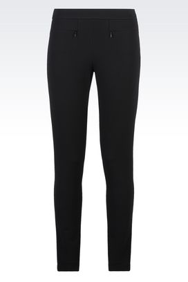 Armani Pants Women trousers in jersey pique