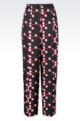 Armani Pants with tucks Women trousers in jacquard