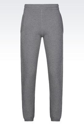 Armani Pantaloni Uomo pantalone jogger in lana