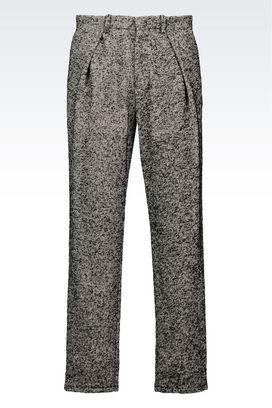 Armani Pantaloni Uomo pantalone di sfilata in misto cotone