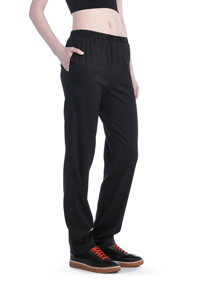 T by ALEXANDER WANG PANTS Women STRETCH SILK TWILL TRACKPANTS