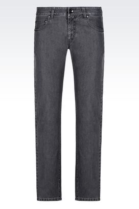 Armani 5 Pocket Trousers Men slim fit grey wash jeans