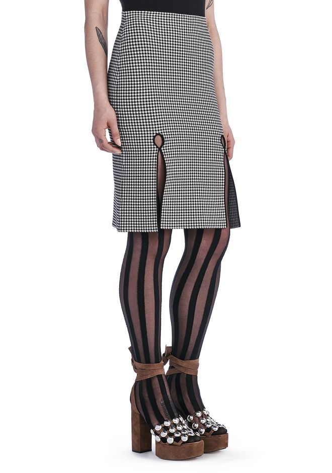 ALEXANDER WANG SKIRTS Women FITTED GINGHAM PENCIL SKIRT