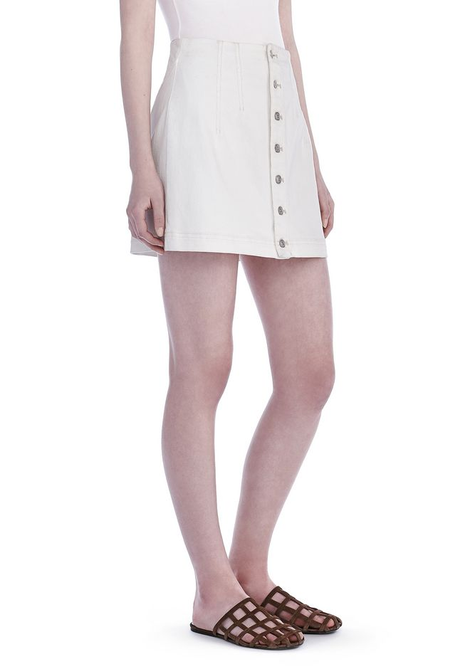 T by ALEXANDER WANG SKIRTS Women COTTON TWILL JEAN SKIRT