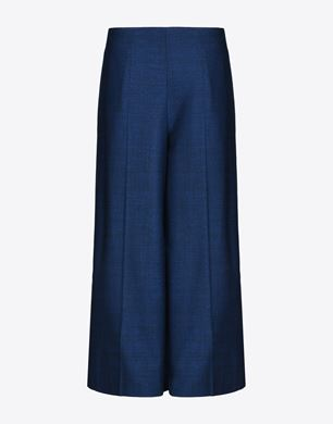 Cropped stretch virgin wool trousers
