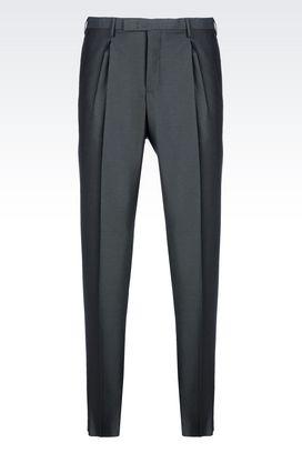 Armani Classic pants Men virgin wool trousers