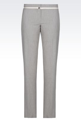 Armani Pants Women trousers in gabardine