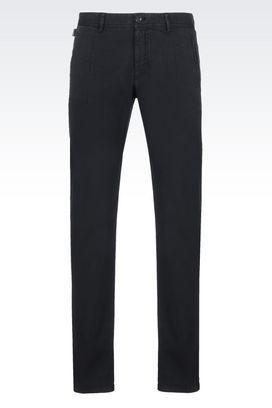 Armani Straight leg pants Men trousers in stretch velvet