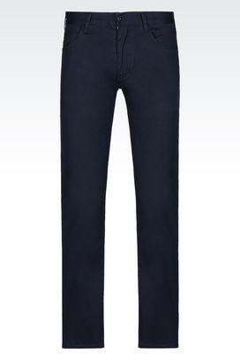 Armani 5 pockets Men slim fit 5 pocket trousers in stretch cotton twill