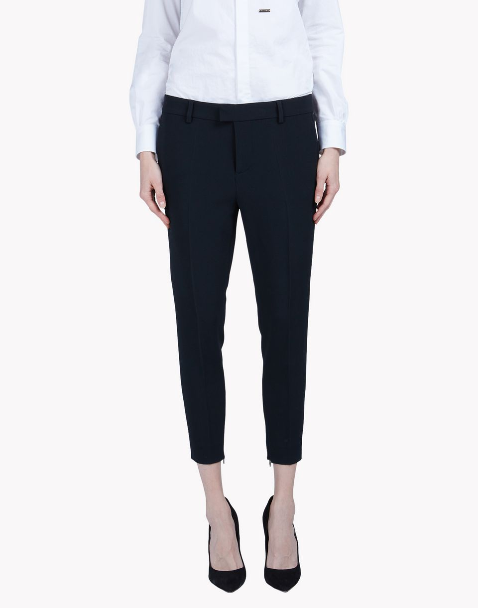 alpha cool girl cropped pants trousers Woman Dsquared2