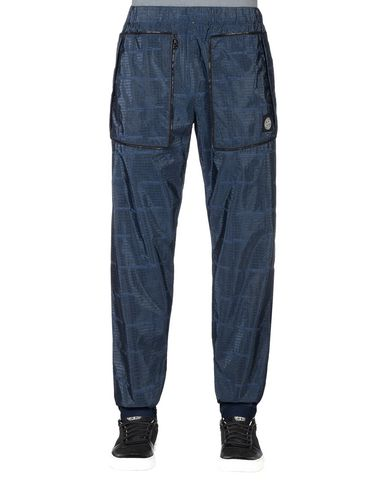 STONE ISLAND Pants 316J4 STONE ISLAND HOUSE CHECK JACQUARD ON NYLON METAL BLACK WATRO _ PACKABLE