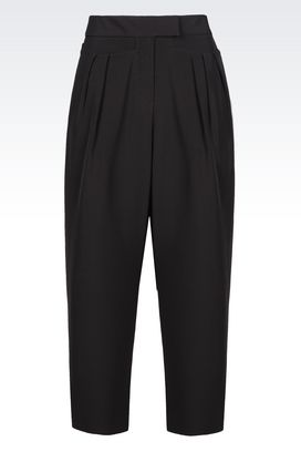 Armani Pants with tucks Women trousers in stretch gabardine