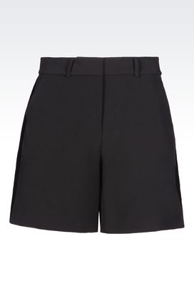 Armani Bermuda shorts Women bermuda shorts in stretch gabardine