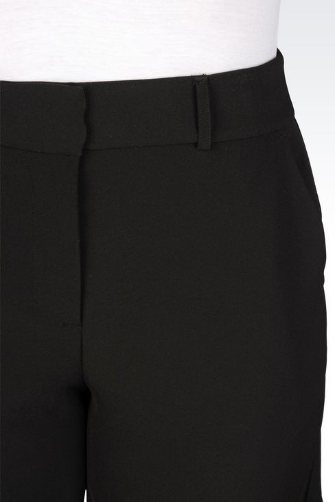BERMUDA SHORTS IN STRETCH GABARDINE: Bermuda shorts Women by Armani - 5