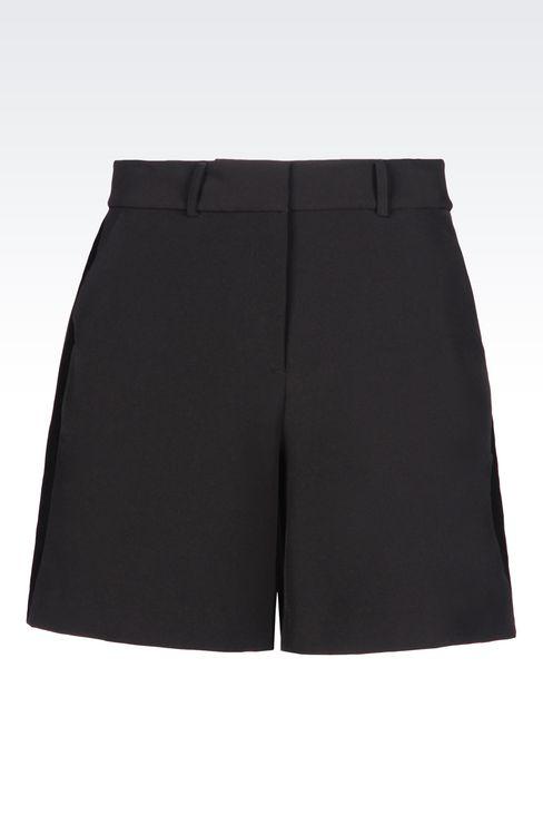 BERMUDA SHORTS IN STRETCH GABARDINE: Bermuda shorts Women by Armani - 1