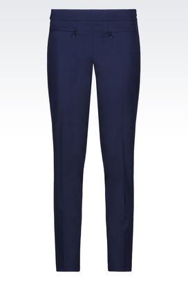 Armani Pants Women trousers in stretch wool