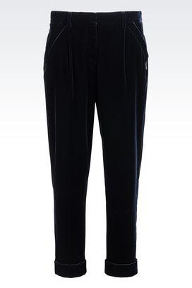 Armani Trousers Women velvet trousers
