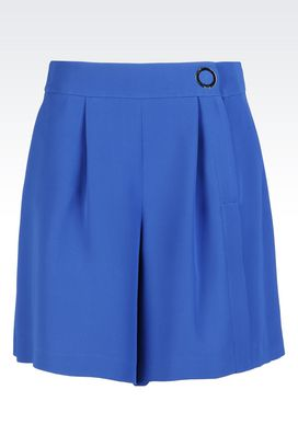 Armani Trousers Women bermuda shorts in silk cady