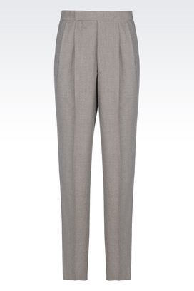 Armani trousers Men virgin wool trousers