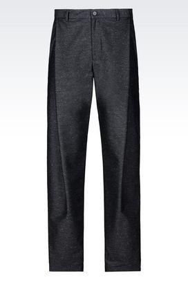 Armani Pantalons Homme pantalon de défilé en laine mélangée
