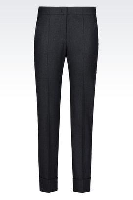 Armani Straight leg pants Women flannel trousers
