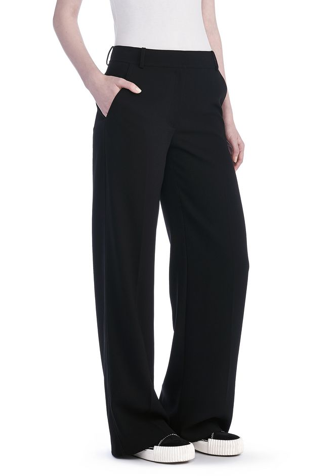T by ALEXANDER WANG PANTS Women POLY CREPE WIDE LEG TROUSERS