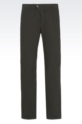 Armani Chinos Men trousers in gabardine