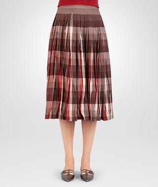 SKIRT IN VESUVIO MIST CHECK WOOL