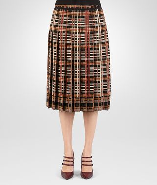 SKIRT IN MULTICOLOR CHECK VISCOSE