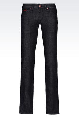 Armani 5 poches Homme jean coupe slim, lavage foncé