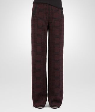 PANT IN BLACK BAROLO CHECK WOOL CASHMERE