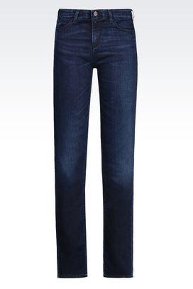 Armani Jeans 5 poches Femme j85 jean coupe classique, lavage foncé