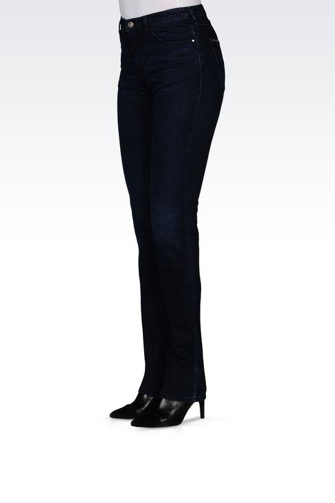 Armani Jeans Women J85 REGULAR FIT DARK WASH JEANS Cotton