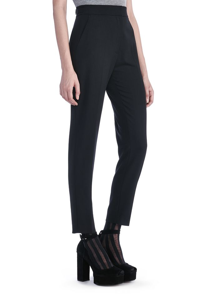 ALEXANDER WANG PANTS Women SLIM FIT TROUSERS WITH BACK POCKET TAB