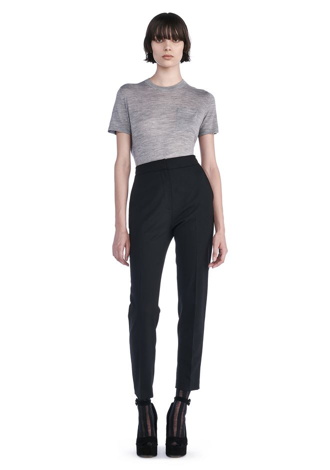ALEXANDER WANG PANTS SLIM FIT TROUSERS WITH BACK POCKET TAB
