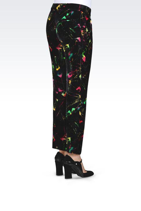 TROUSERS IN VELVET: Trousers Women by Armani - 4