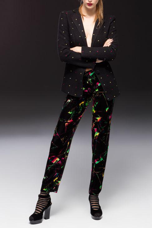 TROUSERS IN VELVET: Trousers Women by Armani - 2