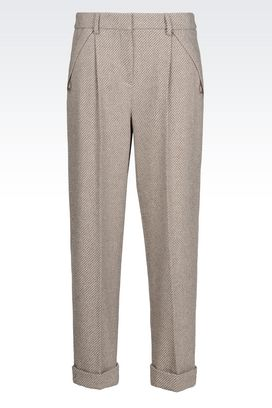 Armani Trousers Women runway trousers in cashmere