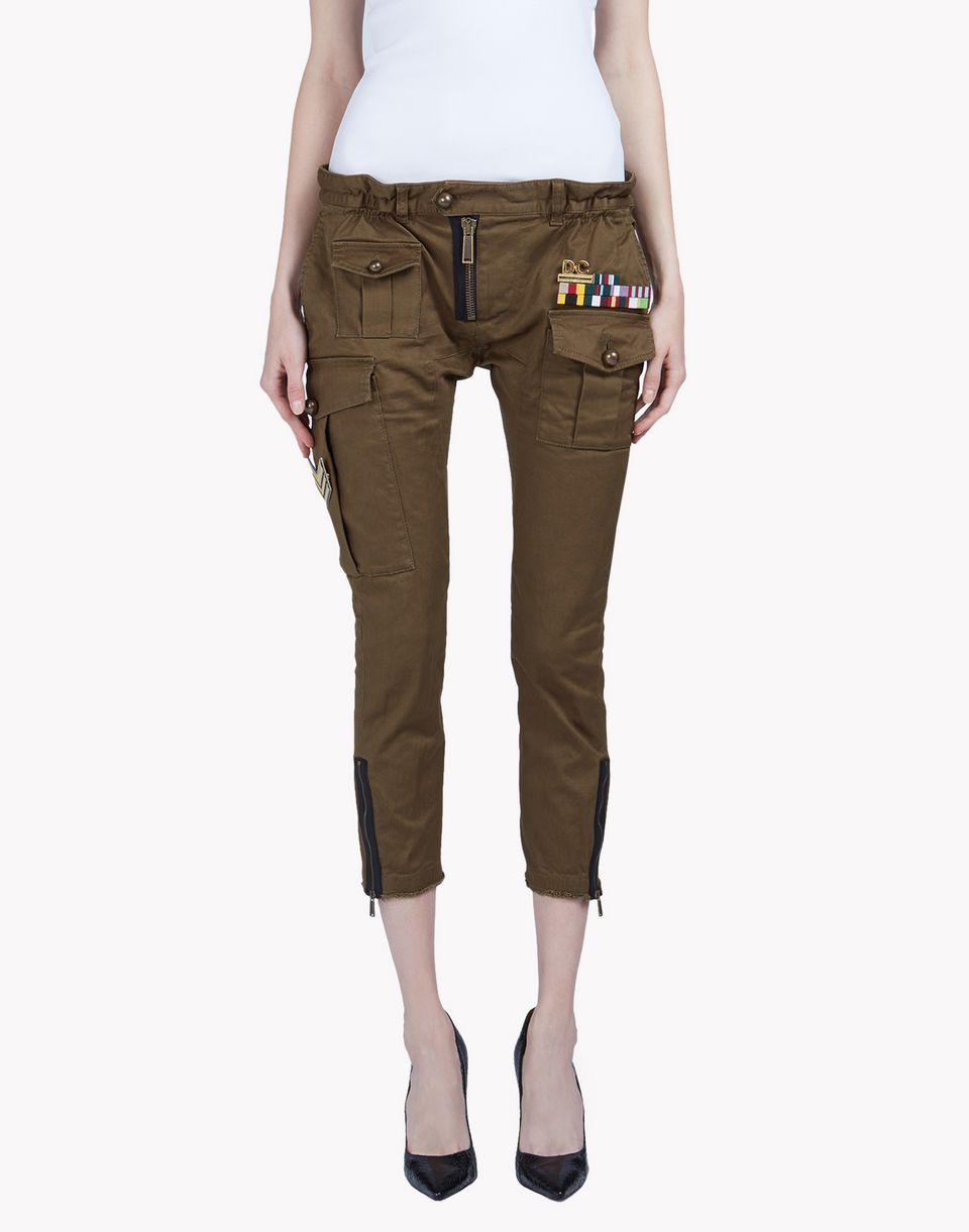 golden arrow icon pants trousers Woman Dsquared2