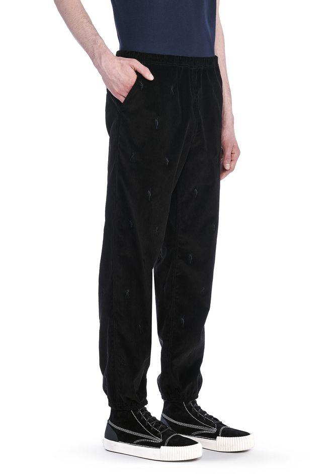 ALEXANDER WANG PANTS Men RUNWAY CORDUROY CHEF PANT WITH EMBROIDERED DANCERS