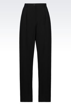 Armani Pants Women runway trousers in technical fabric